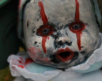 Baby Boo / altered doll / creepy doll / dark doll / gothic / horror / halloween / macabre / creepy clown