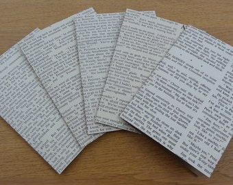 Set of five Notecards, handmade from a 1950's vintage children's annual