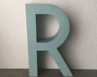 """Large Reclaimed Metal Sign Capital Letter """"R""""  Wedding,Industrial Salvage, Home Decor, Office Decor, Industrial Decor"""