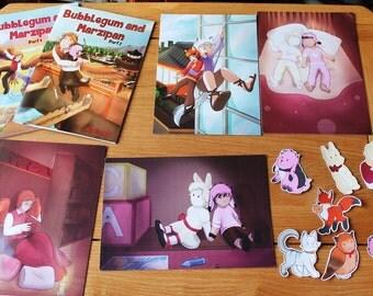 Bubblegum and Marzipan Bundle pack! Original comic book characters digital cute
