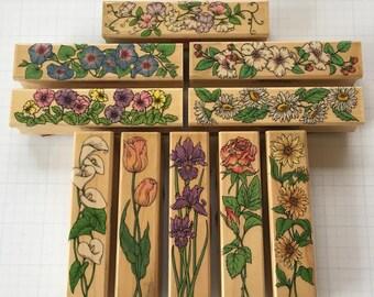 Floral Stamps Vintage (Lot of 10)