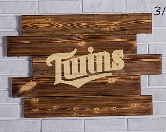 Minnesota Twins Wood Sign Minnesota Twins Wall art Minnesota Twins Gift Minnesota Twins Birthday Minnesota Twins Party wooden