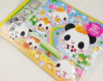 cute stationery set with bunny Panda squirrel 8 leaves 4 envelopes + sicker stationary Kamio envelopes Japan school