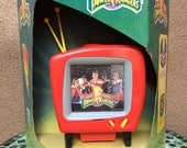 Mighty Morphin Power Rangers Soft Glow TV Projector Bedside Light, NRFB, 1994