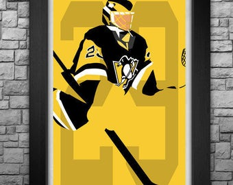 MARC-ANDRE FLEURY minimalism style limited edition art print. Choose from 3 sizes!