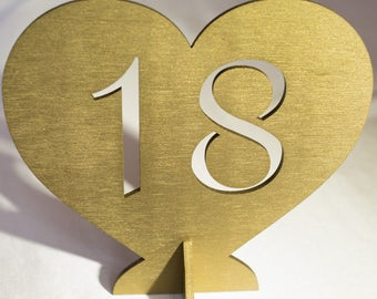Free standing Wedding Table Numbers, Wedding Table Numbers Set, Wedding Table Decor, Table Numbers, Wood Table Numbers, Silver table numbers