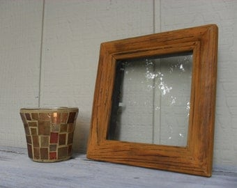 Vintage Wood Picture Frame Rustic Distressed Weathered Shabby Cottage Boho