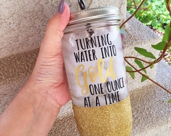 Liquid Gold, Nursing Mom, New Mom, Nursing mom, New Mom Gift, Breastfeeding water bottle, glitter tumbler, glitter water bottle, new mom