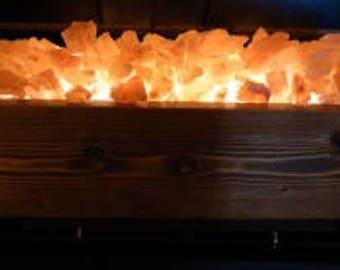 Himalayan Salt Fire Pit Lamp (Medium)