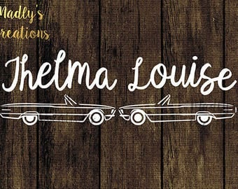 Thelma & Louise with car SVG
