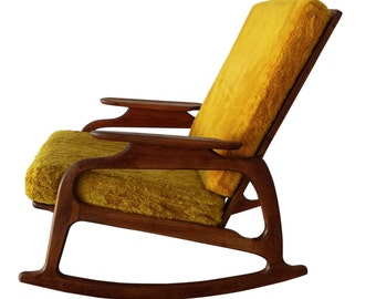 Mid Century Rocking Armchair,Art Deco Style, Danish Rocking Chair, MCM