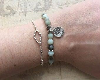 Bracelet in Amazonite beads