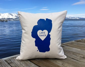 Love Lake Tahoe Pillow 18 x 18