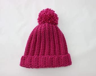 Handmade Crochet Beanie Bobble Hat