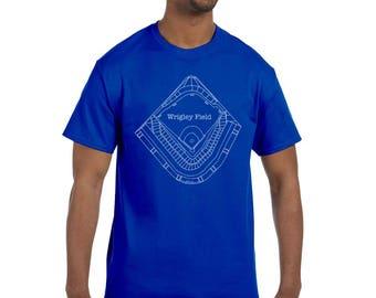 Wrigley Field Blueprint T-Shirts