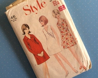 """Vintage Sewing Pattern - Style 2134 - Retro 1960's Dressmaking Pattern - Dress Sewing Pattern - Size 16 Bust 38"""" Sewing"""