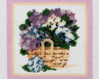 """Embroidery kit """"Spring Flowers"""""""
