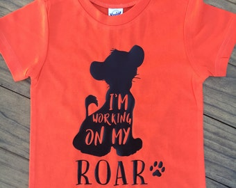 Working On My Roar Simba Lion King Tee/Raglan