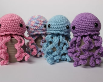 Handmade crochet Jellyfish friend toy decoration