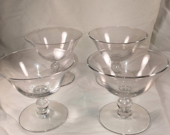 Imperial Candlewick Glass Sherbet Glasses Set of 4 - LG11