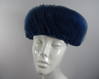 Vintage 60s Pleated Pillbox Hat