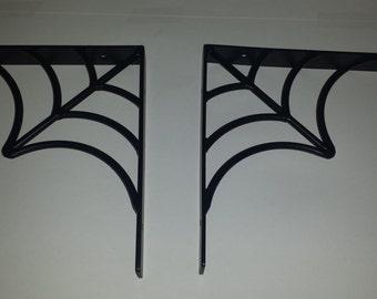 Set of spider web shelf brackets