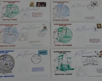 Full Set of Transglobe Expedition First Day Covers (x 11) - Signed by Sir Ranulph Fiennes