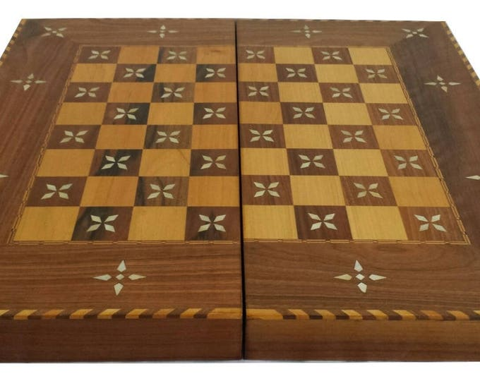 Backgammon, Backgammon Board, Chess Board, Wooden Backgammon, Carved Backgammon, Syrian artisan mosaic backgammon, Marquetry Backgammon