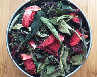 White Strawberry Mint Loose Leaf Tea & Hand-Filled Tea Bags
