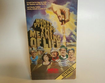 Vintage Monty Python's the Meaning of Life VHS Tape Movie Comedy 1983