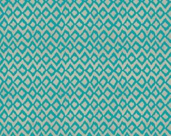 "BTHY - Hummingbird Garden by Sadie for Clothworks, Pattern #Y1653-104 Teal, Blue  3/8"" Ikat Diamonds on Light Gray, by HALF Yard"