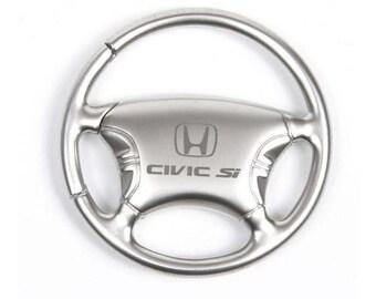 Honda Civic SI Keychain & Keyring - Steering Wheel