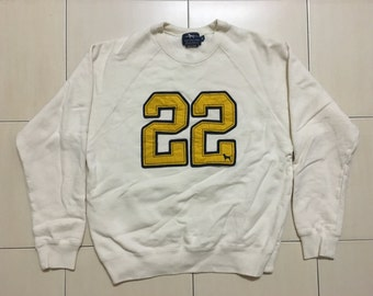 Vintage 90's Labrador Retriever Sport Classic Design Skate Sweat Shirt Sweater Varsity Jacket Size M #A527