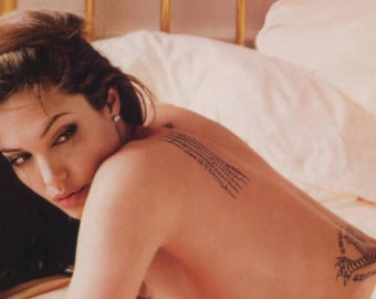Angelina Jolie Temporary Tattoos
