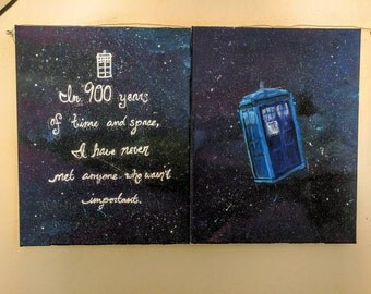 "TARDIS and ""Companion"" Quote Prints"