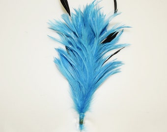 A piece of  Feathers Applique with Wire Craft Supplies Feathers YM457