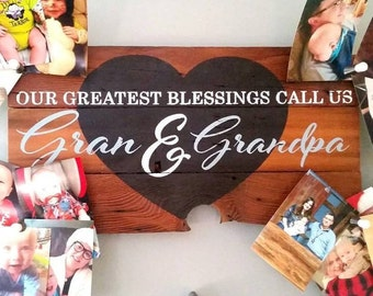 Grandparent Gift - Personalized Grandparent - Grandma Gift - Rustic Sign - Wooden Sign - Grandfather Gift - New Grandparent Gift - Wood Sign