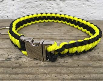 vivid Dog Collar-Yellow dog collar- Black dog collar- large dog collar- strong dog collar
