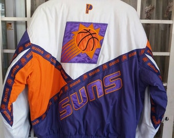 Vintage Sun Pheonix pro players bomber pullover ski jacket spellout embroidery big logo/large size/sportwear/hiphop trending/nba basketball