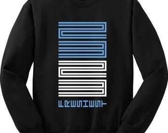 23 Carolina Blue Low XI 11 I 1 Mens Crewneck Crew Sweater Jordans Sneakers Match Sneakerhead