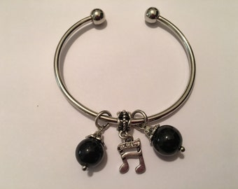 Musical Charm Cuff Bracelet
