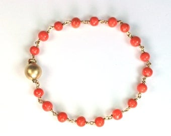 Bracelet 750 gold coral jewelry design unique and made in Germany