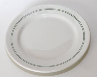 "Wallace China 9"" Plate, Vintage Restaurant Ware, White, Great Condition"