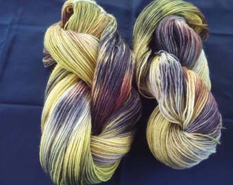 "150 g skein hand-dyed sock yarn ""Autumn leaves"""