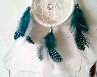 Dream catcher, small white blue