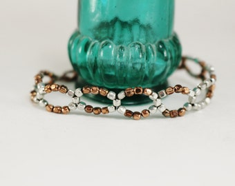 Mixed Metals Beaded Bracelet