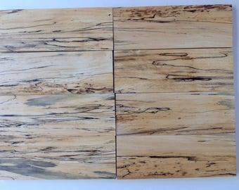"Spalted Sycamore thin wood for crafts  8 pieces 5/16"" x 3-1/8"" x 8-1/4"""