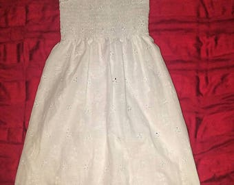 Girls white Sun dress
