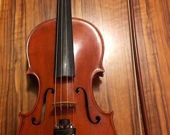 Otto A. Glaesel Left-Handed Stradivaria Model Violin(Cremona 1700) with Oskar E. Meinel Bow.