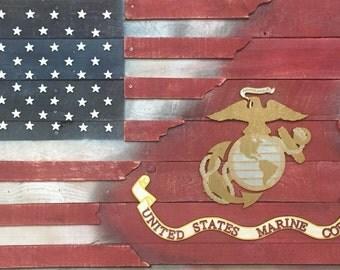 Marine Corps American Flag